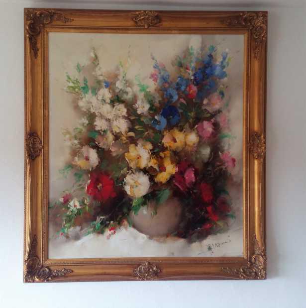 henze morro paul morro les fleurs kunstauktionen online kostenlos gem lde verkaufen. Black Bedroom Furniture Sets. Home Design Ideas